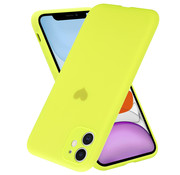 ShieldCase® iPhone 11 hoesje met camera bescherming en geel hartje