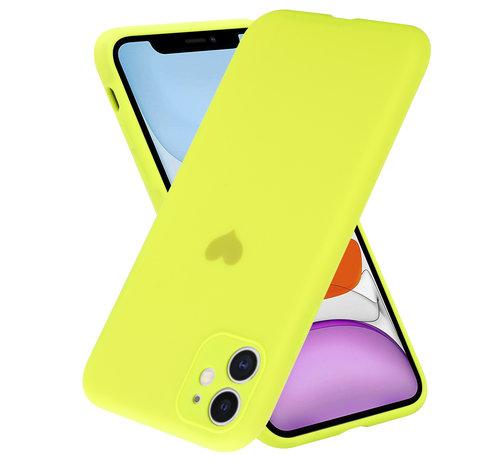 ShieldCase® ShieldCase iPhone 11 hoesje met camerabescherming en geel hartje
