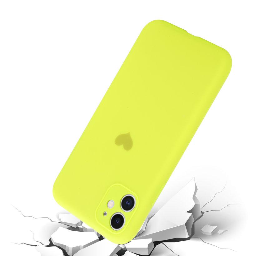 ShieldCase iPhone 11 hoesje met camerabescherming en geel hartje