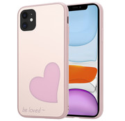 ShieldCase® iPhone 11 hoesje met roze hartje