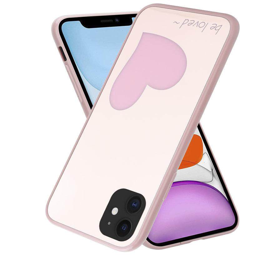 ShieldCase iPhone 11 hoesje met roze hartje