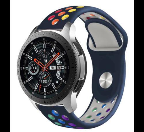 Samsung Galaxy Watch sport band (blauw kleurrijk)