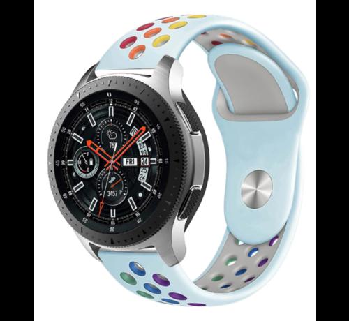 Samsung Galaxy Watch sport band (lichtblauw kleurrijk)
