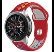 Samsung Galaxy Watch sport band (rood kleurrijk)