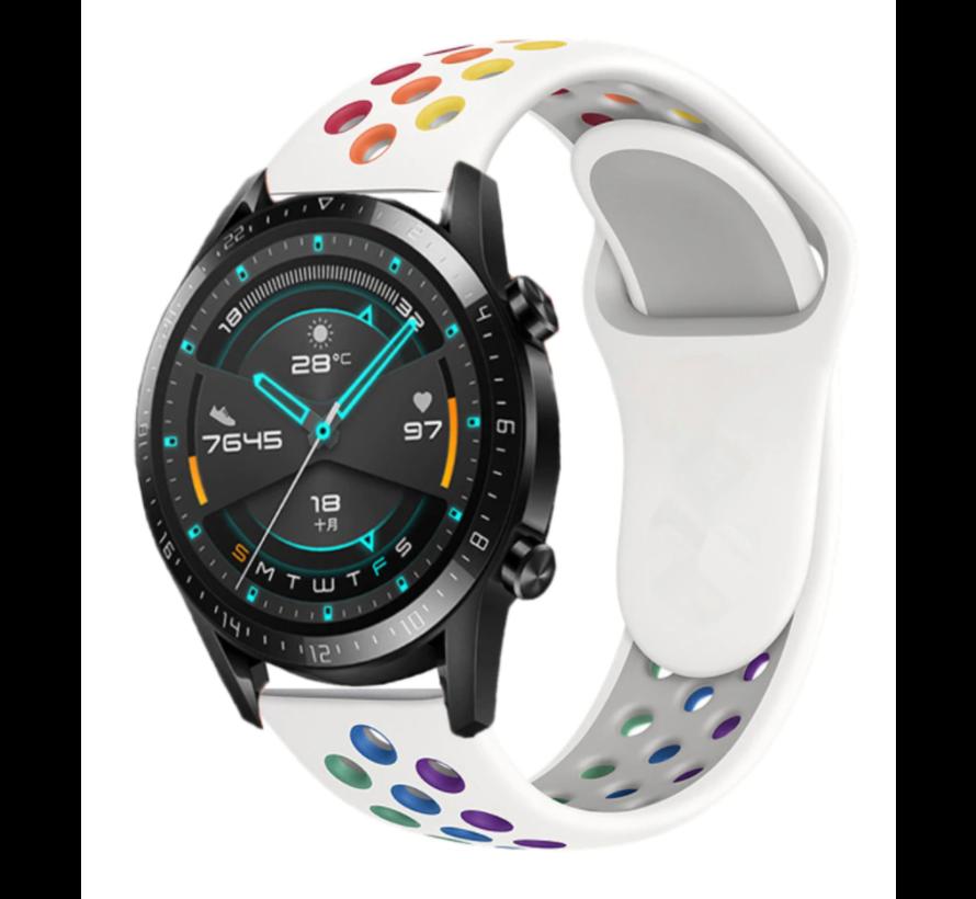 Huawei Watch GT sport bandje (wit kleurrijk)