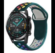 Huawei Watch GT sport bandje (dennengroen kleurrijk)