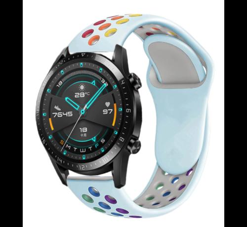 Huawei Watch GT sport bandje (lichtblauw kleurrijk)