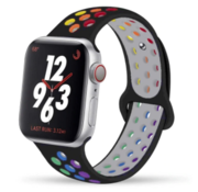 Apple Watch sport+ band (zwart kleurrijk)