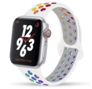 Apple Watch sport+ band (wit kleurrijk)