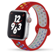 Apple Watch sport+ band (rood kleurrijk)