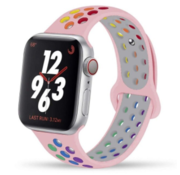 Apple Watch sport+ band (roze kleurrijk)