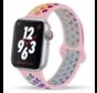 Apple Watch silicone sport+ band (roze kleurrijk)
