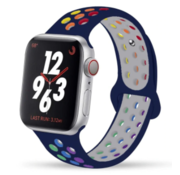 Apple Watch sport+ band (donkerblauw kleurrijk)