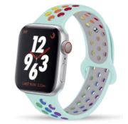 Apple Watch sport+ band (lichtblauw kleurrijk)