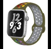 Apple Watch sport+ band (olijfgroen kleurrijk)