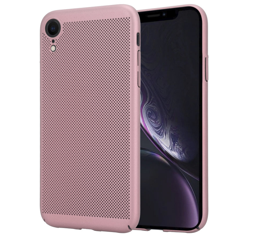 ShieldCase iPhone Xr dun design hoesje (rosé goud)