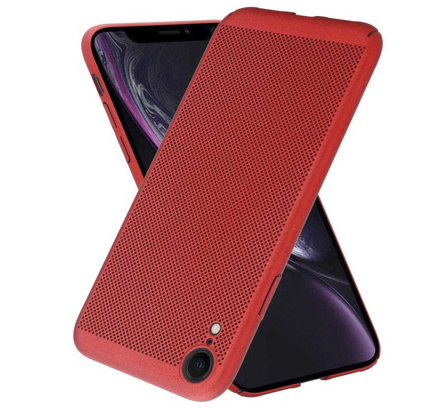 ShieldCase iPhone Xr dun design hoesje (rood)