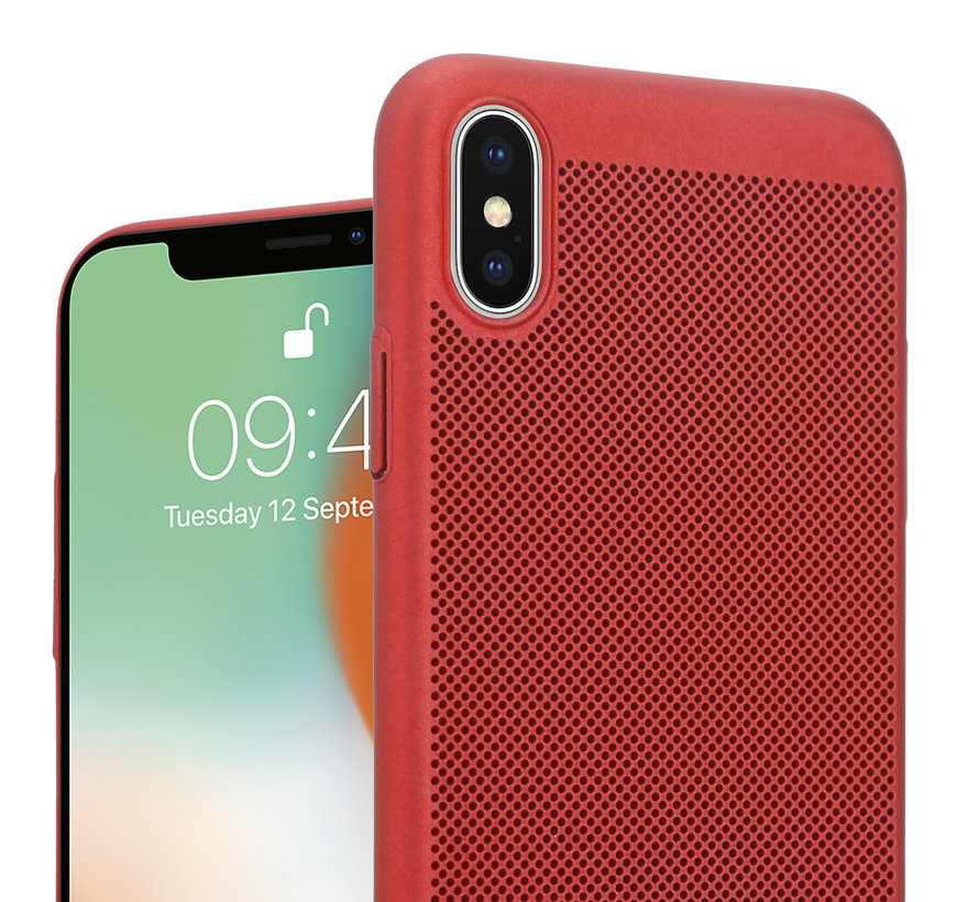 ShieldCase iPhone X / Xs dun design hoesje (rood)