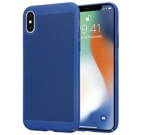 ShieldCase® ShieldCase iPhone X / Xs dun design hoesje (blauw)