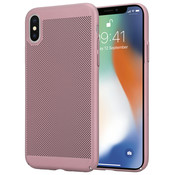 ShieldCase® iPhone X / Xs dun design hoesje (rosé goud)