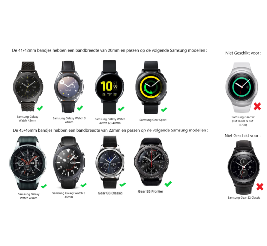 Samsung Galaxy Watch stalen band (goud)