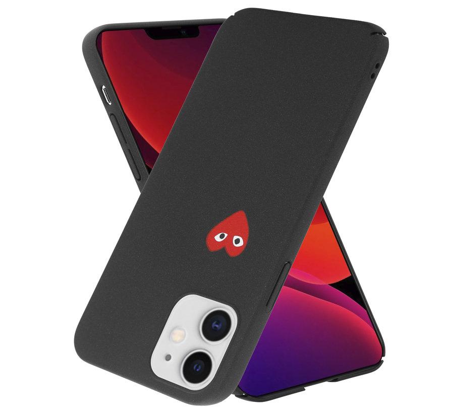 ShieldCase Heart Eyes iPhone 12 Mini - 5.4 inch hoesje (zwart)