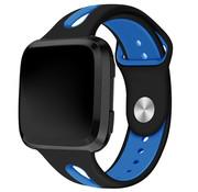 Fitbit Versa duo sport band (zwart/blauw)