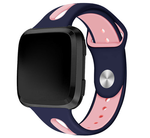 Fitbit Versa duo sport band (donkerblauw/roze)