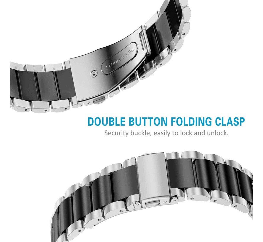 Fitbit Charge 3 stalen bandje (zilver/zwart)