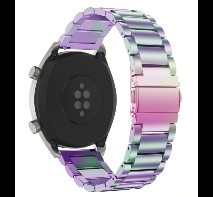 Huawei Watch GT stalen bandje (regenboog)