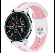 Samsung Galaxy Watch duo sport band (wit/roze)