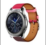 Samsung Gear S3 lederen bandje (knalroze/roodbruin)