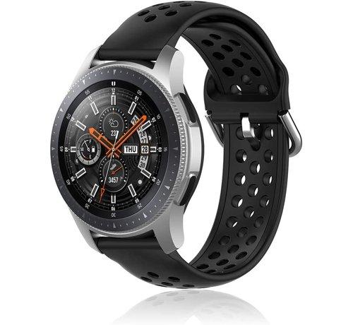 Samsung Galaxy Watch siliconen bandje met gaatjes (zwart)