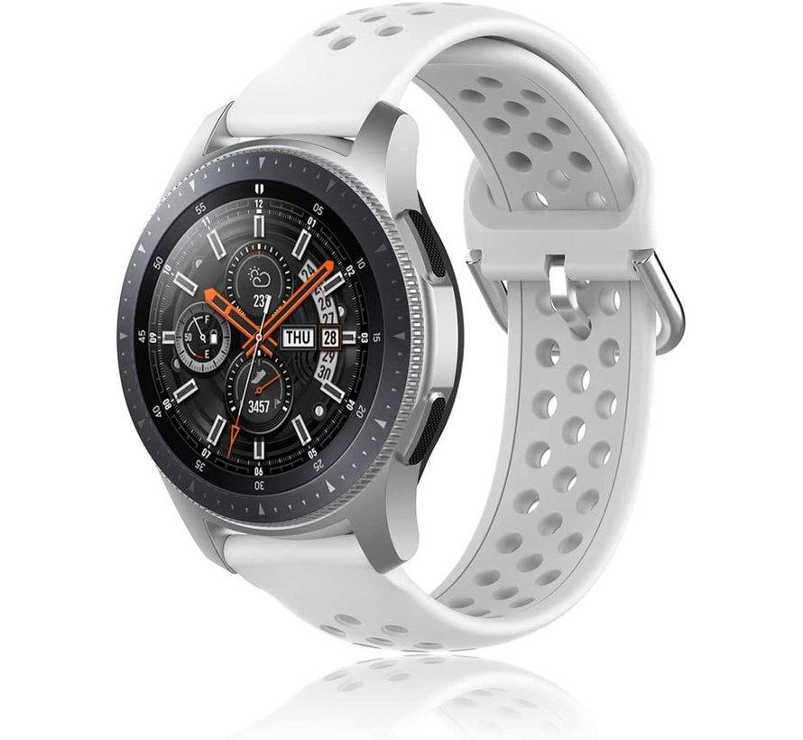 Samsung Galaxy Watch siliconen bandje met gaatjes (wit)
