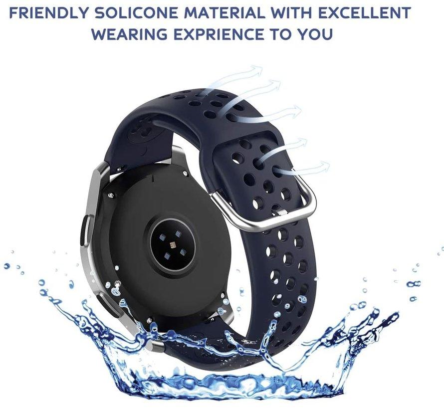Samsung Galaxy Watch siliconen bandje met gaatjes (donkerblauw)