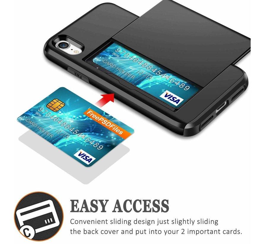 Shieldcase Kaarthouder case met slide iPhone Xr (goud)