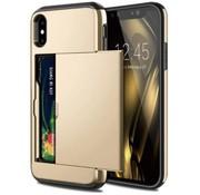 ShieldCase® Kaarthouder case met slide iPhone Xr (goud)