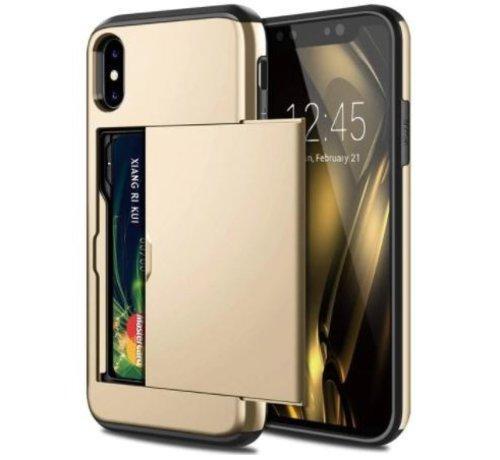 ShieldCase® Shieldcase Kaarthouder case met slide iPhone Xr (goud)