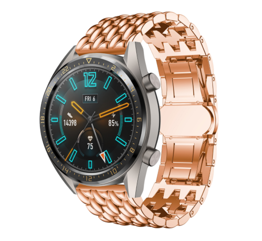 Huawei Watch GT draak stalen band (rosé goud)