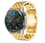 Huawei Watch GT draak stalen band (goud)