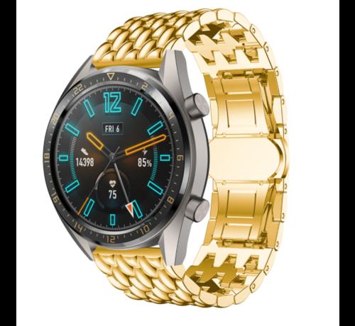 Huawei Watch GT draak stalen band (goud)