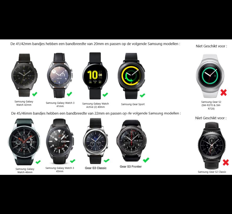 Samsung Galaxy Watch draak stalen band (rosé goud)