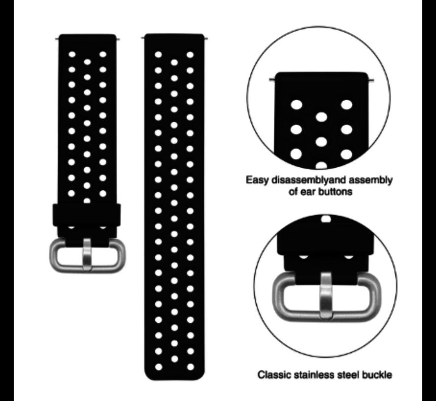 Polar Vantage M siliconen bandje met gaatjes (zwart)