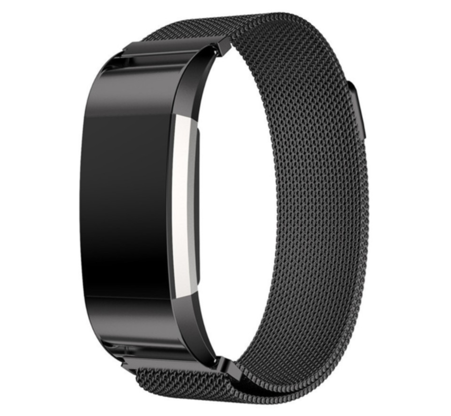 Fitbit Charge 2 Milanese band (zwart)
