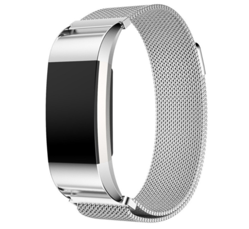 Fitbit Charge 2 Milanese band (zilver)