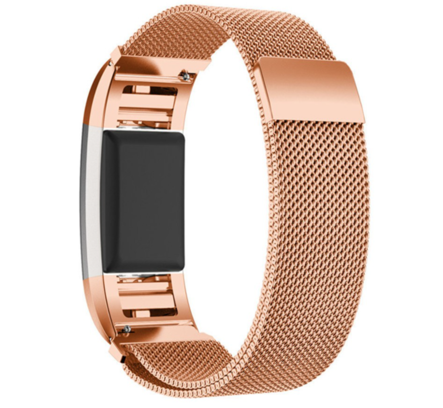 Fitbit Charge 2 Milanese band (rosé goud)