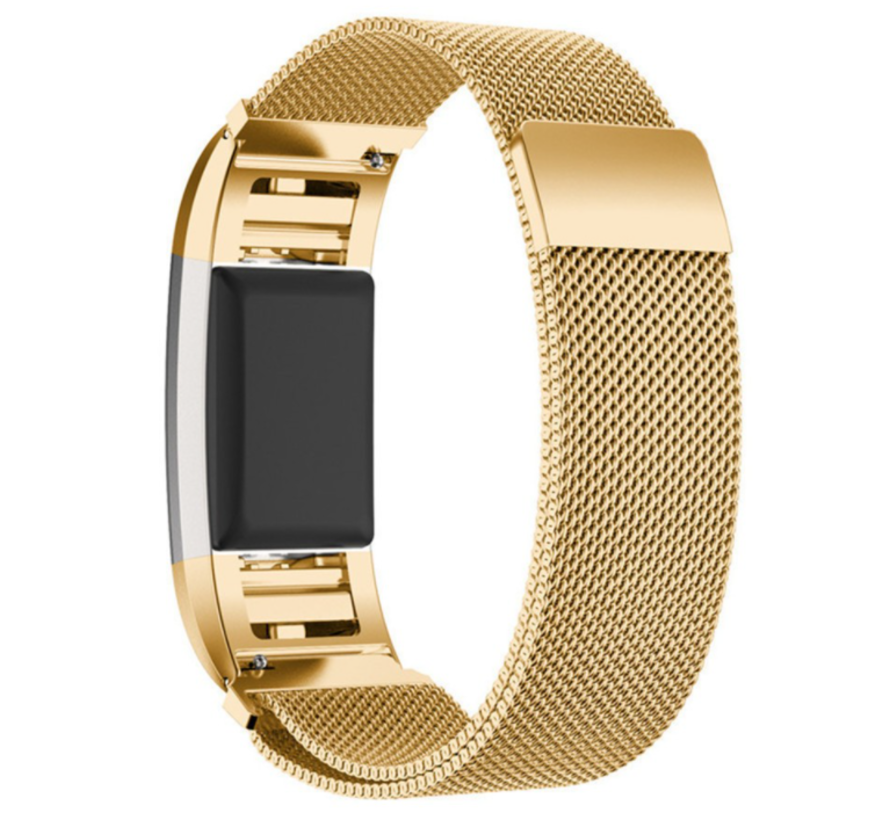 Fitbit Charge 2 Milanese band (goud)
