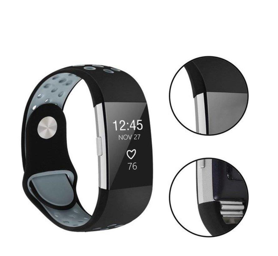 Fitbit Charge 2 sport band (zwart grijs)