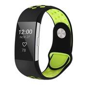 Fitbit Charge 2 sport band (zwart groen)