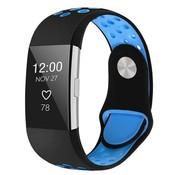 Fitbit Charge 2 sport band (zwart blauw)